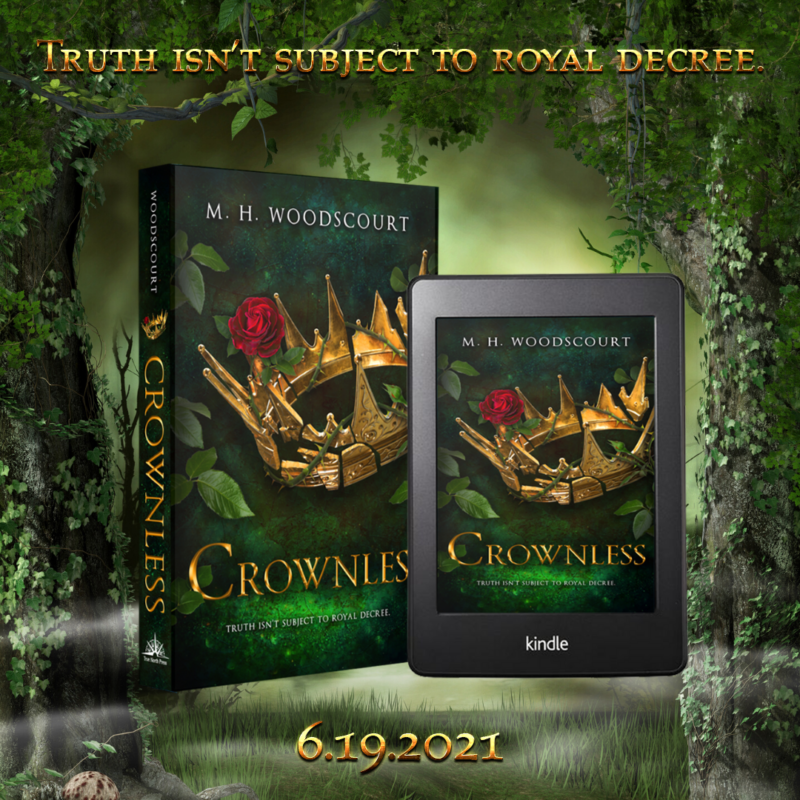 Cover Reveal Crownless- M.H. Woodscourt